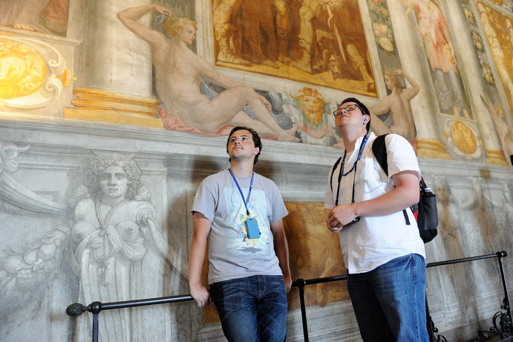 St.Edward's University students in Rome, May 2015 photo �Tim Fox