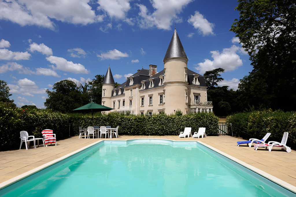 Chateau de Bois Giraud and swimming pool